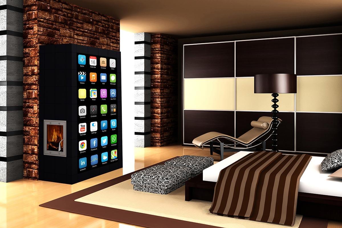 Apagyi Zsolt tervezte Design App cserépkályha