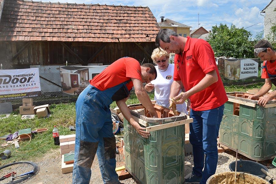 Pindroch Csaba kályhát épít 2